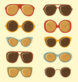 Fashion sunglasses set vector image vector image
