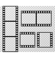 Film strip photo frame template isolated on vector image vector image