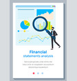 finance report concept financial statements vector image