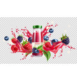 forest berry mix juicy splash motion vector image vector image