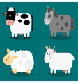 Funny cloven hoof farm animals collection vector image vector image