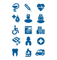 general medical icons vector image vector image