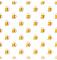 glass mug with beer pattern vector image vector image