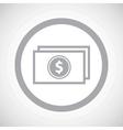 Grey dollar bill sign icon vector image vector image