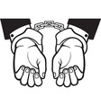 Hands in Handcuffs Icon vector image