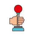 hands with video game control icon vector image