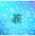 happy new 2019 year composition with doodles vector image vector image
