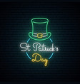 happy saint patricks day neon sign bright vector image vector image