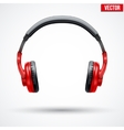 Headphones Isolated on White Background vector image