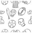 ilustration sport equipment doodles vector image