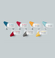 infographics paper ribbon labels infographic vector image vector image