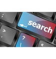 internet search engine key showing information vector image