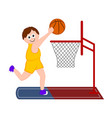 isolated basketball player scoring a point vector image