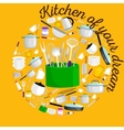 Kitchenware icons setSteel kitchen vector image vector image