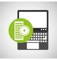 laptop technology data server gear vector image vector image