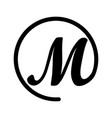 logo in form letter m and dog sign vector image vector image