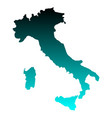 map of italy vector image vector image