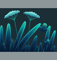 meadow plants forest grass at night vegetation vector image vector image