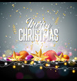 merry christmas with gold star glass vector image vector image
