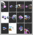 minimal brochure templates with circle elements vector image vector image