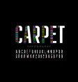 modern font design carpet style alphabet letters vector image vector image