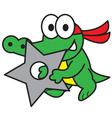 Ninja Crocodile vector image