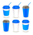 paper cup 09 vector image vector image