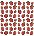 Pattern with strawberries vector image vector image