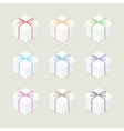 Present boxes with twine bows vector image