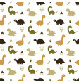 seamless dinosaur pattern vector image vector image