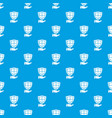 shield pattern seamless blue vector image vector image
