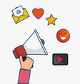 social media related icons vector image