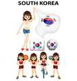 South Korea representative and many sports vector image vector image