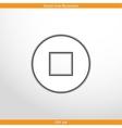 stop web flat icon vector image