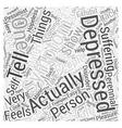 symptom of depression Word Cloud Concept vector image vector image