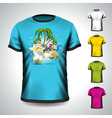 t-shirt set on a summer holiday theme vector image vector image