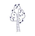 tree foliage leaves greenery cartoon isolated icon vector image