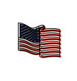 united states flag waving in watercolor silhouette vector image vector image