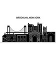 usa brooklyn new york architecture city vector image vector image