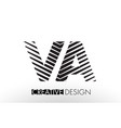 va v a lines letter design with creative elegant vector image vector image