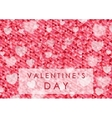 Valentine Day polygonal pixelated abstract vector image vector image