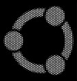 white dot cooperation icon vector image