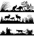wild animals kangaroos sheep wild cats vector image vector image