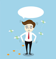 Businessman with no money vector image