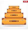 Pyramid of the vintage suitcases vector image