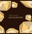 abstract background with geometry crystals vector image vector image