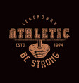 athletic club emblem graphic design for t-shirt vector image vector image