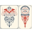Baroque Cards Set Layered vector image vector image