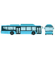 big electric city bus vector image