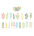 blooming easter branches vector image vector image